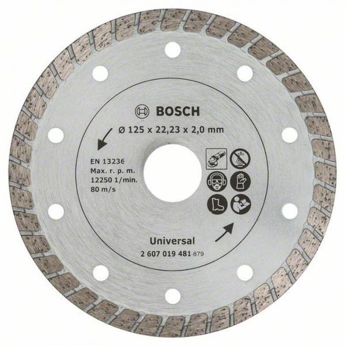 Disc de taiere diamantat Turbo 125mm [0]