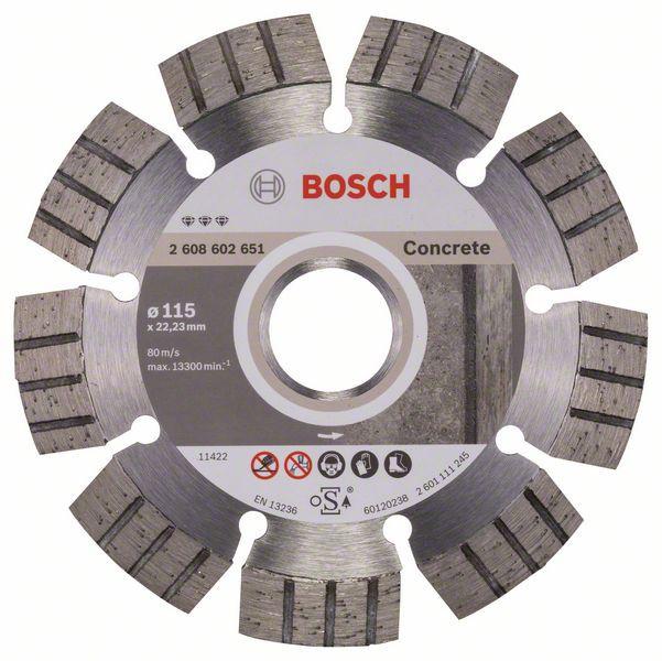 Disc diamantat Best pentru beton 115 x 22.23 x 2.2mm 1