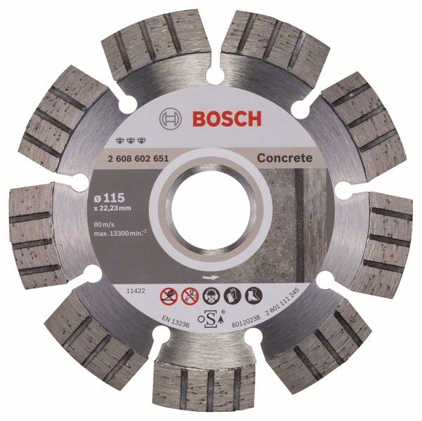 Disc diamantat Best pentru beton 115 x 22.23 x 2.2mm 0