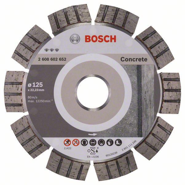 Disc diamantat Best pentru beton 125 x 22.23 x 2.2mm 1