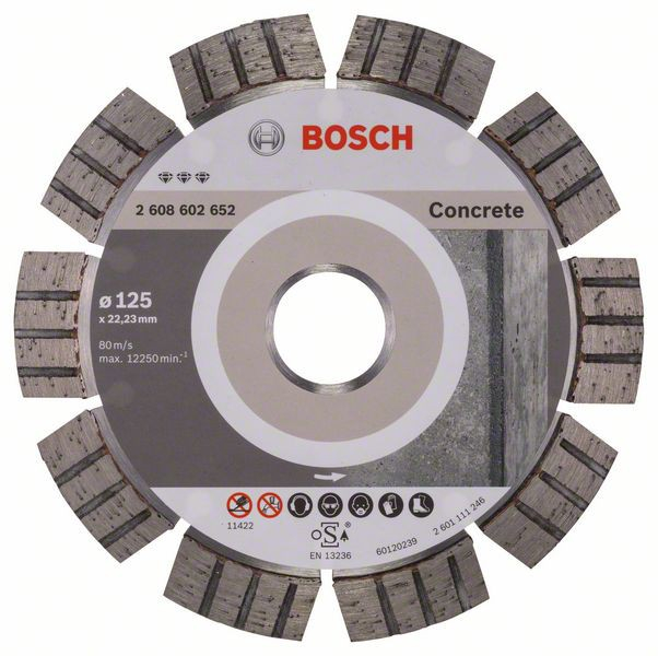 Disc diamantat Best pentru beton 125 x 22.23 x 2.2mm 0
