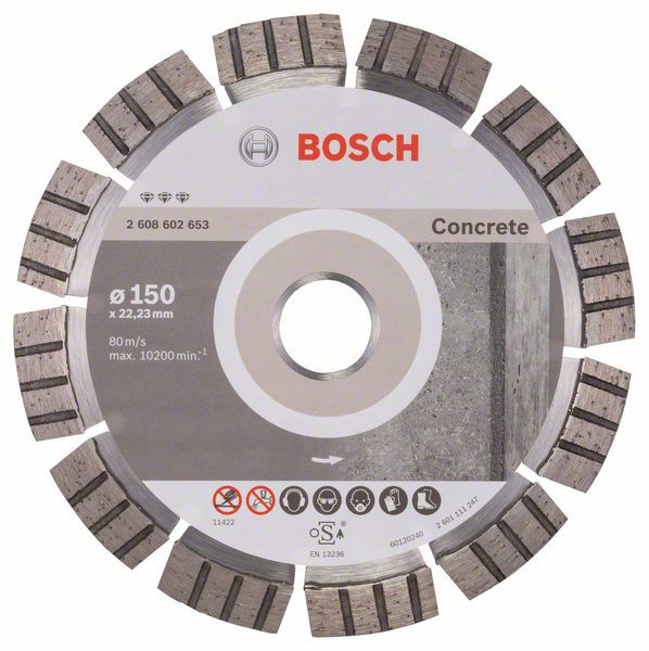 Disc diamantat Best pentru beton 150 x 22.23 x 2.4mm 0