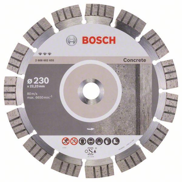 Disc diamantat Best pentru beton 230 x 22.23 x 2.4mm 0
