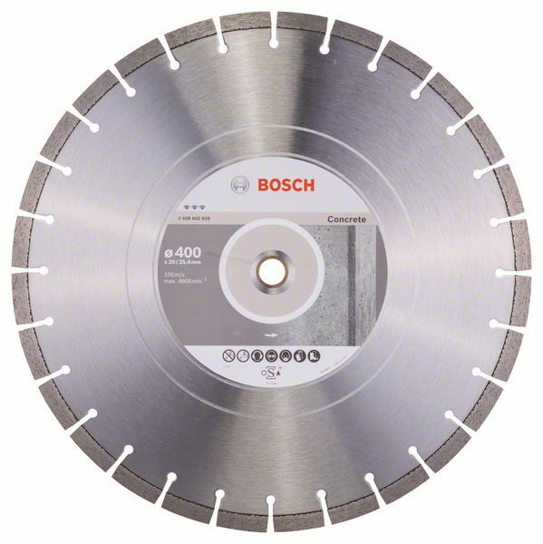 Disc diamantat Best pentru beton 400 x 20.00+25.40 x 3.2mm 0