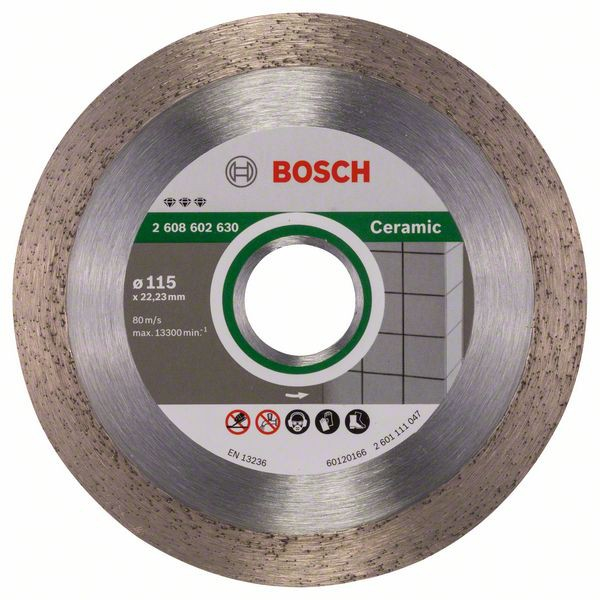 Disc diamantat Best pentru ceramica 115 x 22.23 x 1.8mm 0