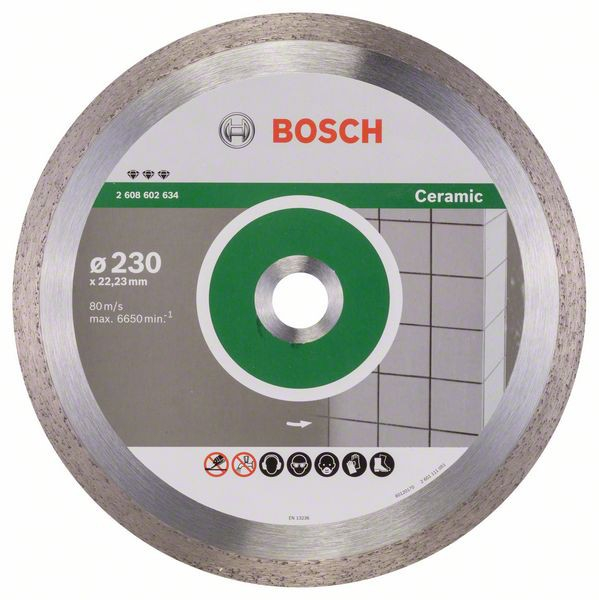 Disc diamantat Best pentru ceramica 230 x 22.23 x 2.4mm 1