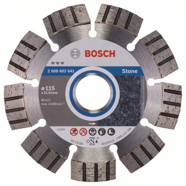 Disc diamantat Best pentru piatra 115 x 22.23 x 2.2mm [0]