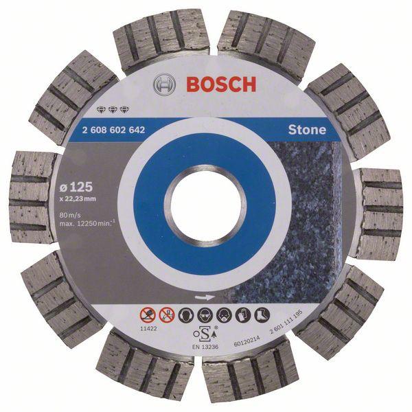 Disc diamantat Best pentru piatra 125 x 22.23 x 2.2mm 0