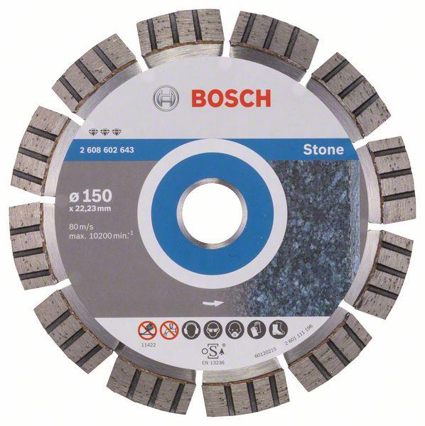 Disc diamantat Best pentru piatra 150 x 22.23 x 2.4mm 0