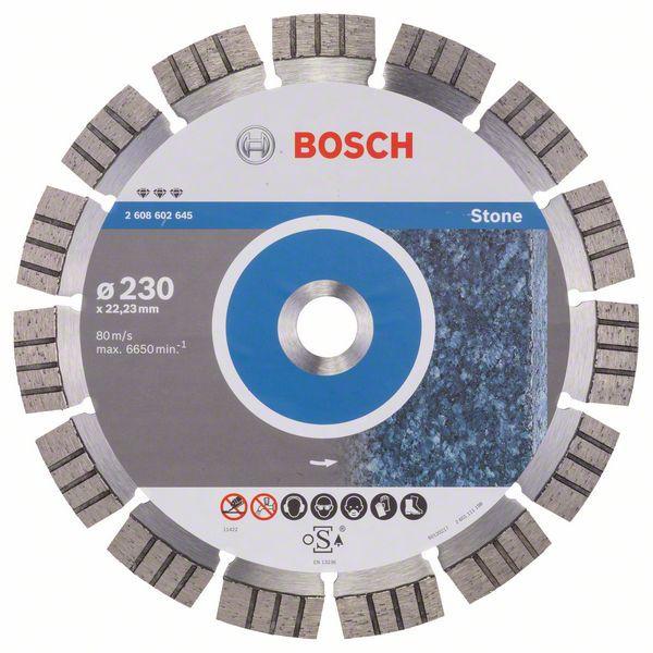 Disc diamantat Best pentru piatra 230 x 22.23 x 2.4mm 0