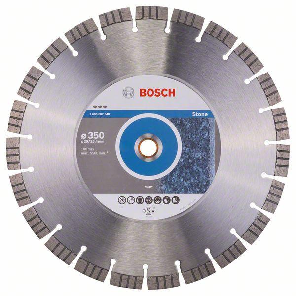 Disc diamantat Best pentru piatra 350 x 20.00+25.40 x 3.2mm 2