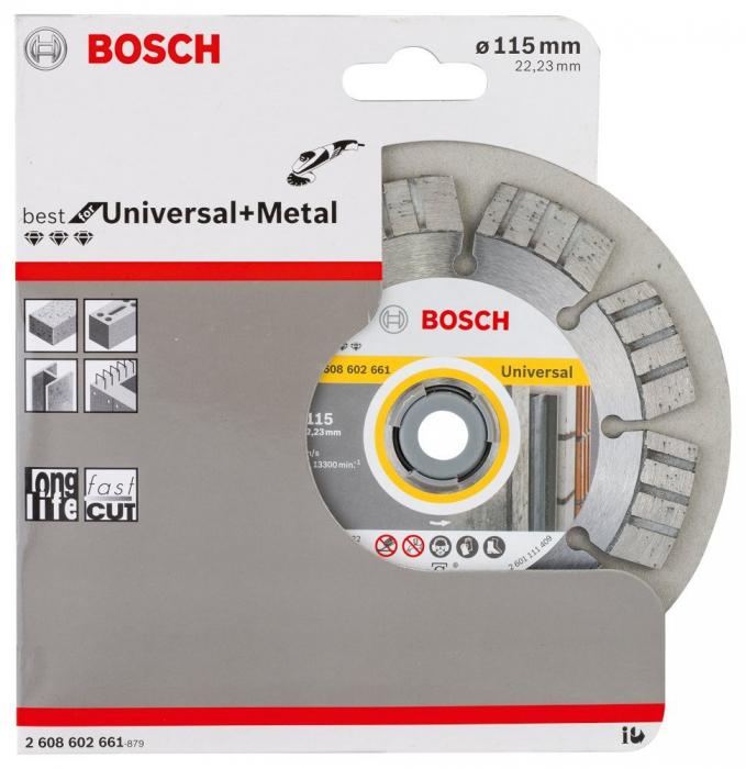 Disc diamantat Best universal si pentru metal 115 x 22.23 x 2.2mm 0