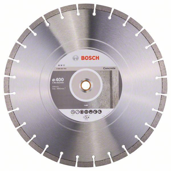 Disc diamantat Expert pentru beton 400 x 20.00+25.40 x 3.2 0