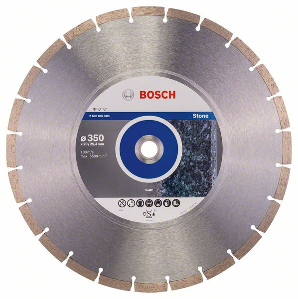Disc diamantat Standard pentru piatra 350 x 20/25.40 x 3.1mm 1
