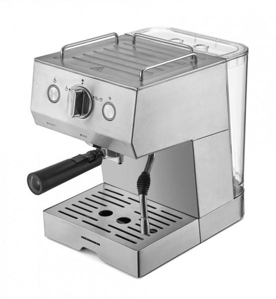 Espressor Heinner HEM-1140SS, 20 bar, 1140 W, 1.5 L, filtru dublu din inox, plita calda, Inox [0]