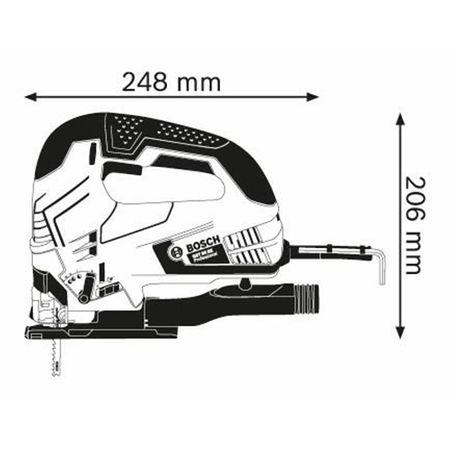 Fierastrau vertical Bosch Professional GST 90 BE, 650W, 3100 RPM, 90mm 4