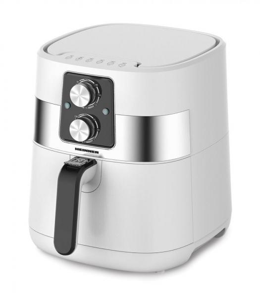 Friteuza cu aer cald Heinner FryChef 1300 HAF-DM1300WH, 1300W, capacitate vas 4L, capacitate cos 3L, termostat reglabil: 140-200˚C, temporizator: 30 min, Alb 0