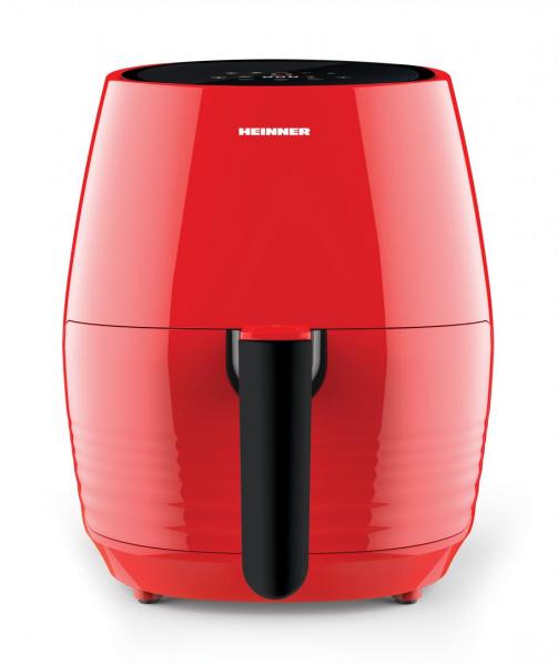 Friteuza cu aer cald Heinner Nelle Digital RD HAF-1250DRD, 1250W, capacitate vas 3.2L, capacitate cos 2.5L, control digital, termostat reglabil 80-200˚C, temporizator 30 min, Rosu 1