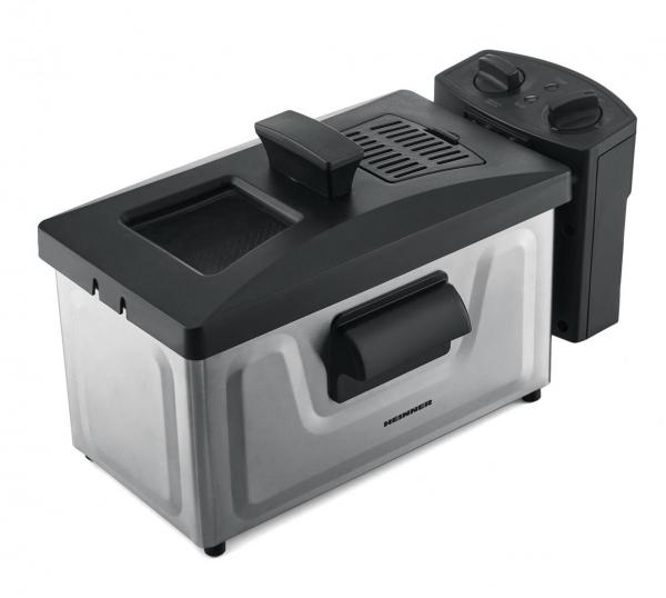 Friteuza Heinner HDF-1800SS, 1800 W, termostat reglabil, timer, 3 L, Inox 2