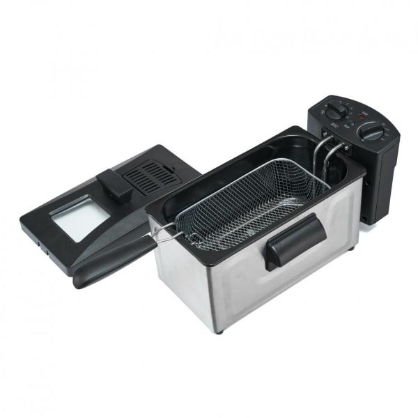 Friteuza Heinner HDF-1800SS, 1800 W, termostat reglabil, timer, 3 L, Inox 0