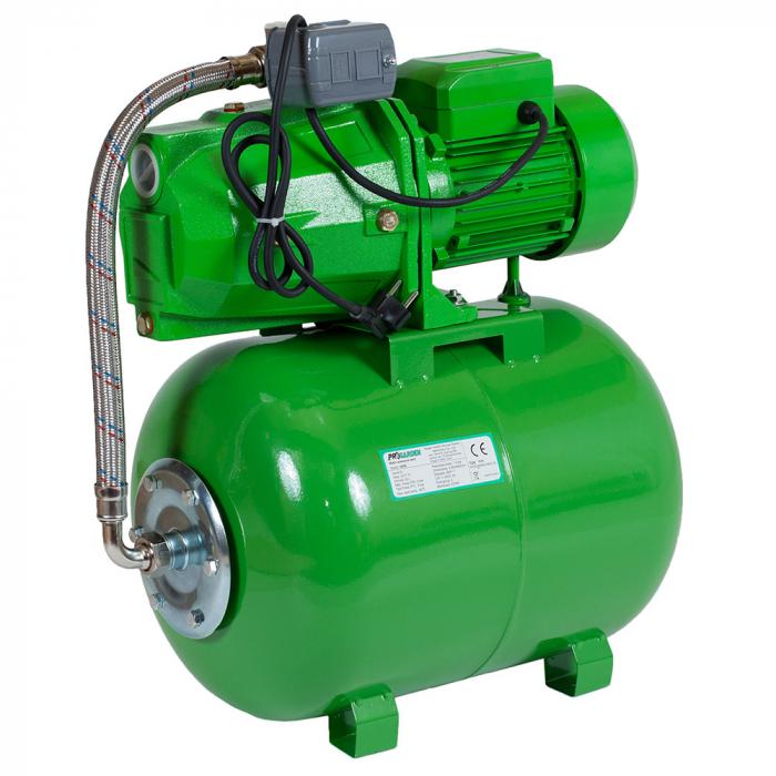 Hidrofor ProGARDEN AUJET100L / 24L 750 W 24 l 3000 l/h inaltime refulare 45 m adancime absorbtie 9 m 4 bar 20 Kg 0