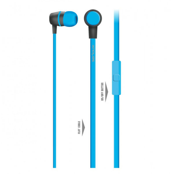 IN-EAR HEADPHONES WITH MIC SERIOUX BLUE 1