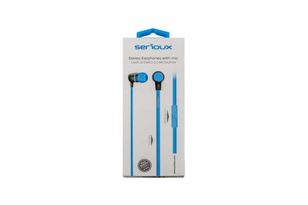 IN-EAR HEADPHONES WITH MIC SERIOUX BLUE 0