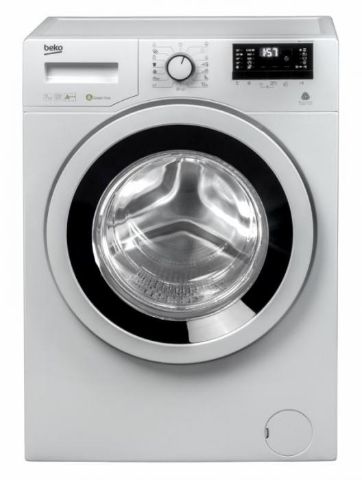 Masina de spalat rufe Slim Beko WKY71233PTLYB3, 7 kg, 1200 RPM, Clasa A+++, HomeWhiz, Mini LCD, Alb 1