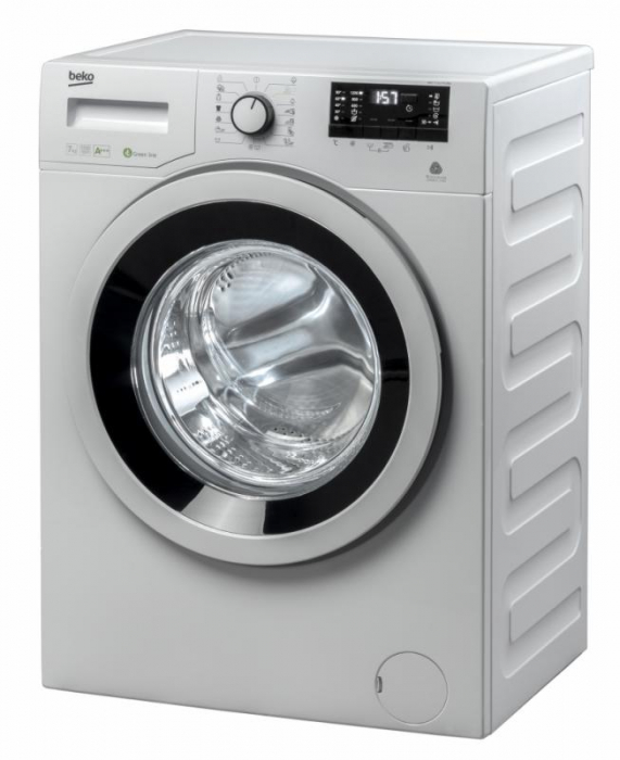Masina de spalat rufe Slim Beko WKY71233PTLYB3, 7 kg, 1200 RPM, Clasa A+++, HomeWhiz, Mini LCD, Alb 0