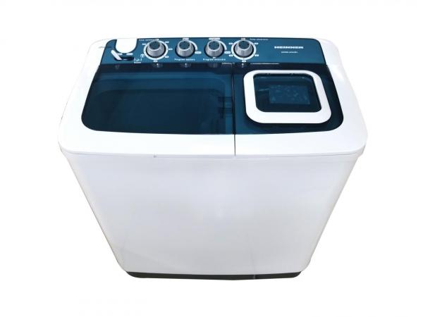 Masina de spalat rufe semiautomata Heinner HSWM-AD84BL, 8 Kg, 4.6 Kg, Alb/Albastru 1