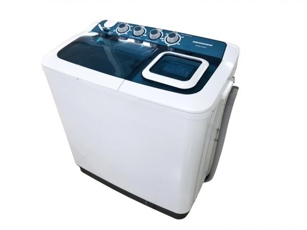 Masina de spalat rufe semiautomata Heinner HSWM-AD84BL, 8 Kg, 4.6 Kg, Alb/Albastru 0