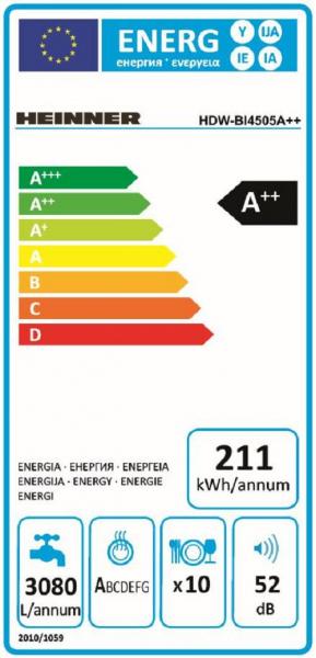 MASINA SP VASE HEINNER HDW-BI4505A++ 2