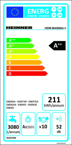 MASINA SP VASE HEINNER HDW-BI4506A++ 5