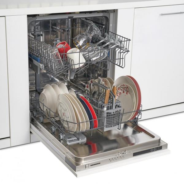 Masina de spalat vase incorporabila Heinner HDW-BI6006A++, 12 seturi, 6 programe, Clasa A++, Control electronic, Display LED, 60 cm 2