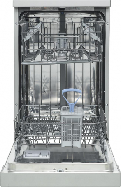 Masina de spalat vase Heinner HDW-FS4506DSA++, 10 seturi, 6 programe, Clasa A++, Control electronic, Display LED, 45 cm, Gri 0