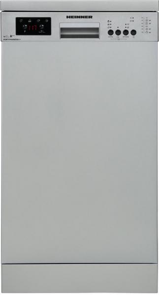 Masina de spalat vase Heinner HDW-FS4506DSA++, 10 seturi, 6 programe, Clasa A++, Control electronic, Display LED, 45 cm, Gri 1