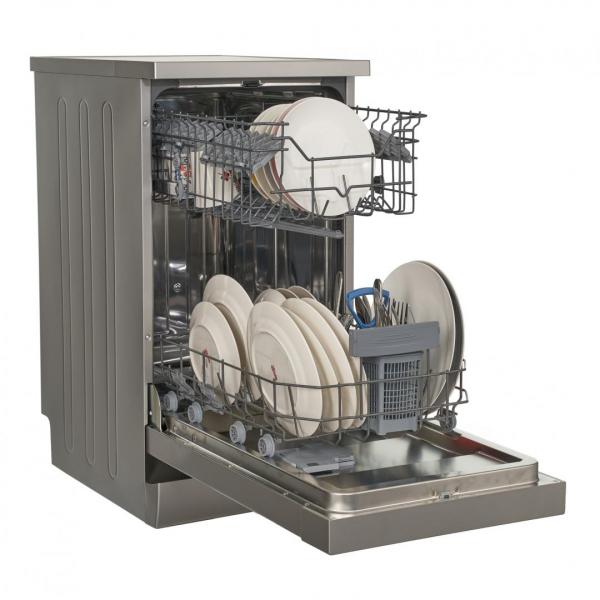 Masina de spalat vase Heinner HDW-FS4506DSA++, 10 seturi, 6 programe, Clasa A++, Control electronic, Display LED, 45 cm, Gri 3