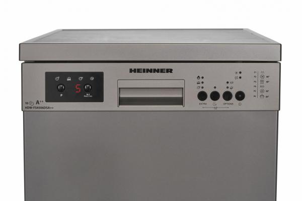 Masina de spalat vase Heinner HDW-FS4506DSA++, 10 seturi, 6 programe, Clasa A++, Control electronic, Display LED, 45 cm, Gri 4
