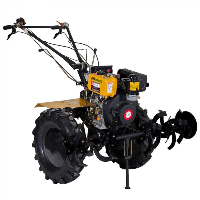 Motocultor 7CP ProGARDEN HS1100AE, 2+1, roti 5.00-12, diesel, pornire electrica 3