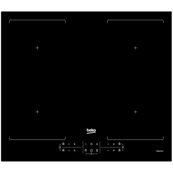 Plita incorporabila Beko HII64201F2HT, Inductie, 4 zone gatit, Touch control, 60 cm, Sticla neagra 0