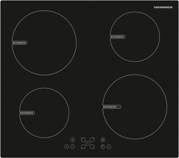 Plita incorporabila Heinner HBHI-V591BTC, Inductie, 4 zone de gatit, Touch control, Boost 1 zone, 60 cm, Negru 0