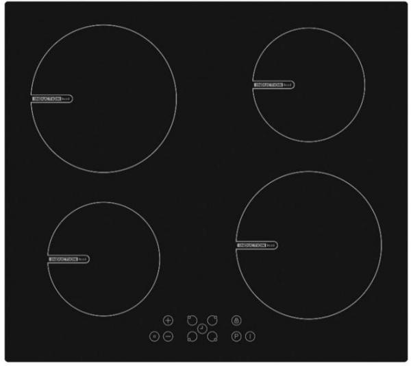Plita incorporabila Heinner HBHI-V594BTC, Inductie, 4 zone de gatit, Touch control, Boost 4 zone, 60 cm, Sticla neagra 0