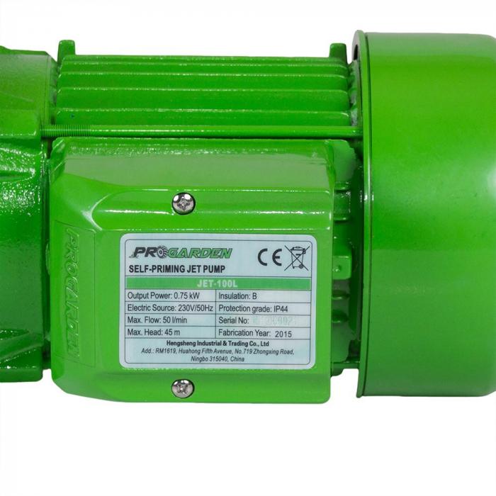 Pompa de suprafata ProGARDEN JET100L, apa curata, 750W, 50L/min 2