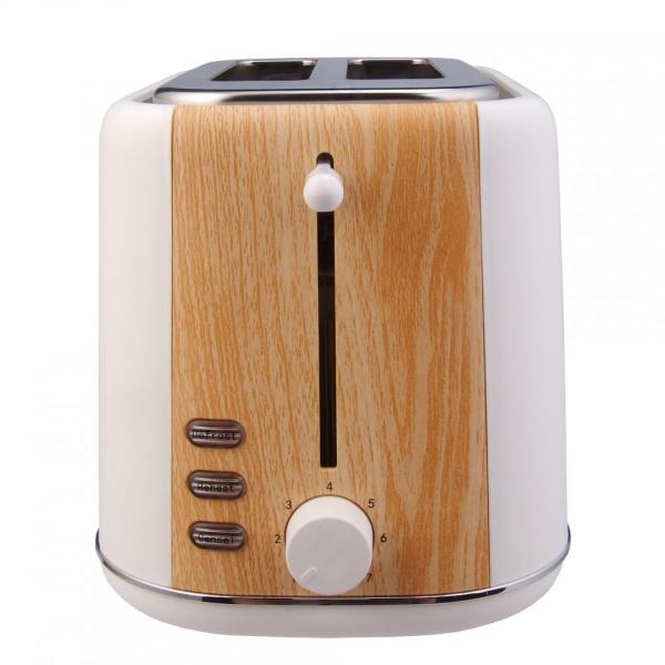 Prajitor de paine Heinner HTP-WH800BB, 800 W, 2 felii, dezghetare, 7 niveluri de rumenire, Alb 1