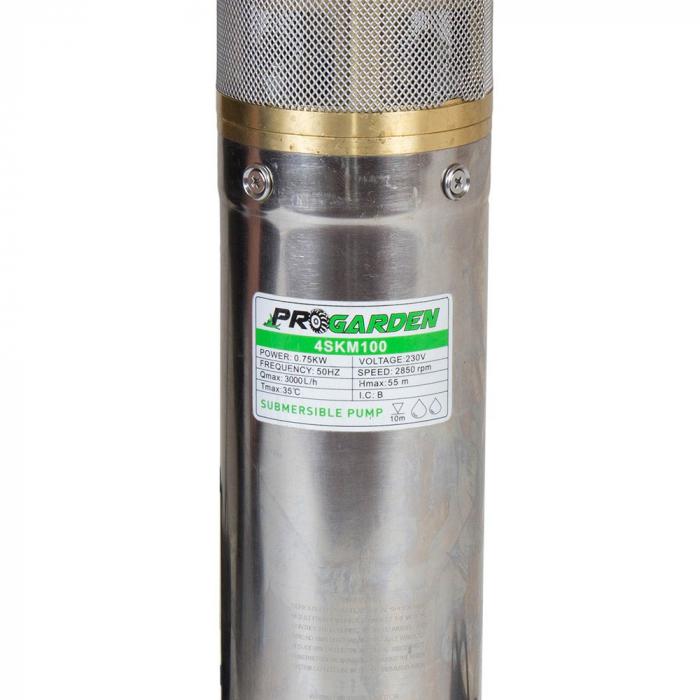 Pompa submersibila apa curata ProGARDEN 4SKM100-C, 750W, 45L/min, flansa cupru 1