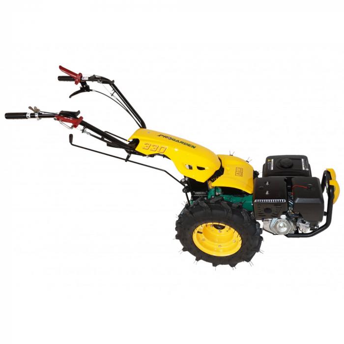 Motocultor multifunctional 14CP ProGARDEN BT330/G190, benzina, euro5, 3+2 viteze, reductor 1