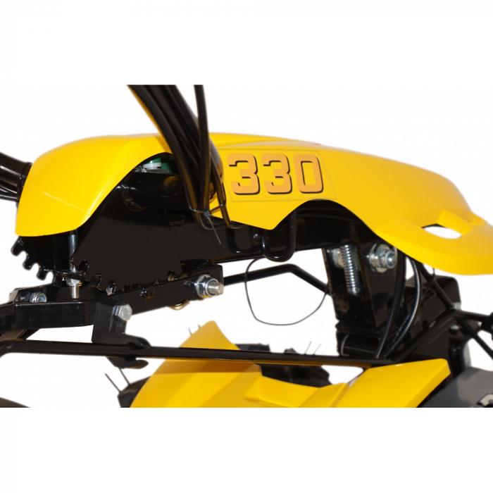 Motocultor multifunctional 14CP ProGARDEN BT330/G190, benzina, euro5, 3+2 viteze, reductor 2