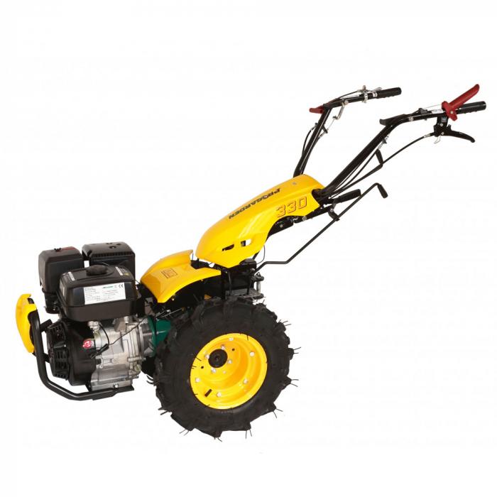 Motocultor multifunctional 14CP ProGARDEN BT330/G190, benzina, euro5, 3+2 viteze, reductor 0