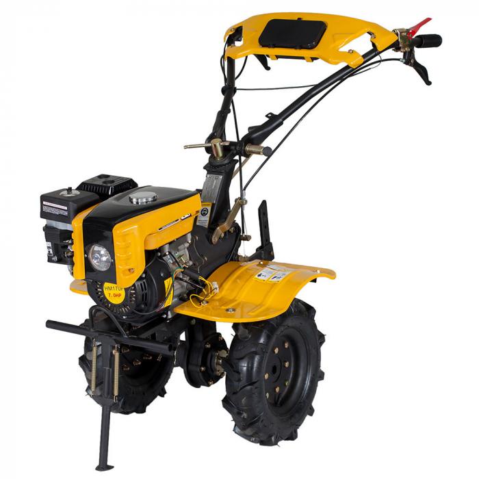 Motocultor 7CP ProGARDEN HS1000B, 2+1, roti 4.00-10, benzina + plug bilonat 2
