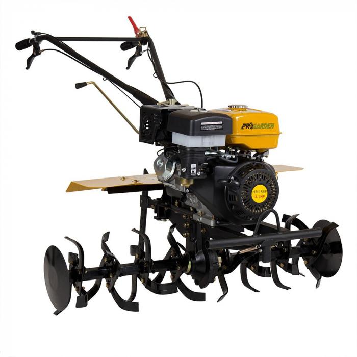 Motocultor 13CP ProGARDEN HS1100D, 2+1, roti 6.00-12, far, benzina 1